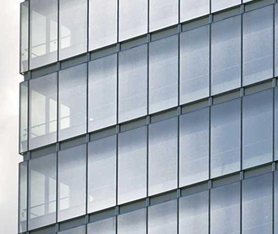 التشطيبات المعمارية -الواجهات الزجاجية و المعدنيه